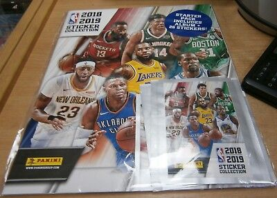 Panini NBA 2018/2019 Stickers Collection Starter Pack: Album + 26 Stickers