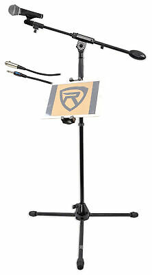 Samson BT4 Microphone+Tripod Base Mic Stand w/ Boom+Smartphone/Tablet/iPad Mount