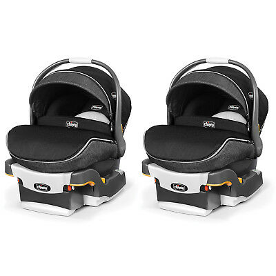 Chicco KeyFit 30 Zip Infant Car Seat with Base and Zipping Canopy (2 Pack)