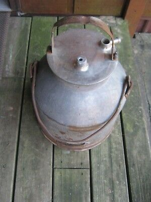 Vintage Heavy Galvanized Metal Milker  Milk Bucket Not Complete Good Decor