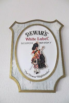 THE DEWAR'S HIGHLANDER WHITE LABEL SCOTCH WHISKY,double sided advertising sign