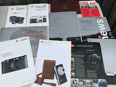 Lot Modern & Vintage Leica Cameras Brochures Catalogues Books Etc See All Photos