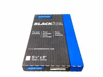 (Closeout) Norton 39370 Black Ice Sanding Paper Sheets, Grit 2000, Pack Of 50