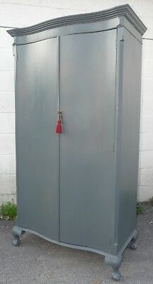 Painted French Wardrobe With Key