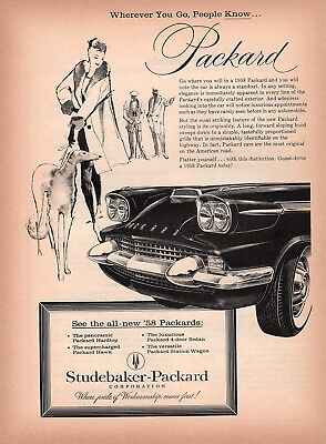 Original Print Ad - 1958 Packard / Wherever You Go, People Know...