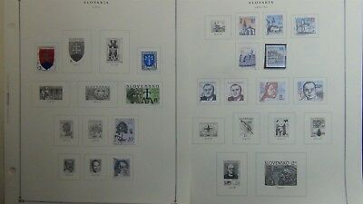 Slovakia stamp collection on Scott Int'l pages '93 -'08 w/ 133 stamps
