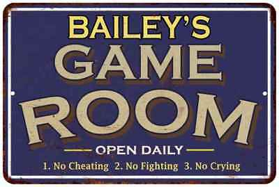 SP0672 The BAILEY/'S Family name Sign Bar Store Shop Cafe Home Chic Decor Gift