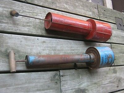 2 pcs  Metal Bug's Sprayer Original Vintage Old  Rawleigh Duster good decor