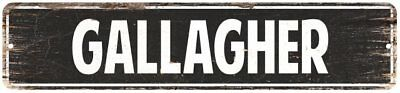 GALLAGHER Personalized Street Sign Home Decor Chic Gift 4x18 104180003223