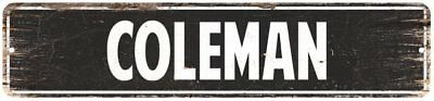 COLEMAN Personalized Street Sign Home Decor Chic Gift 4x18 104180003158