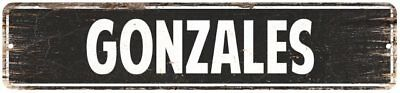GONZALES Personalized Street Sign Home Decor Chic Gift 4x18 104180003236