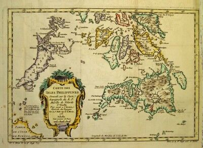1753  Fine Bellin Map of Southern Philippines