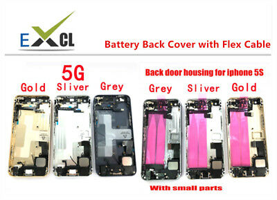 Full Housing Middle Frame Battery Cover Back with Flex Cable For IPhone 5 5S