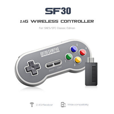 8Bitdo SN30/SF30 2.4G Wireless Game Controller For NES, SNES,SFC Classic Edition
