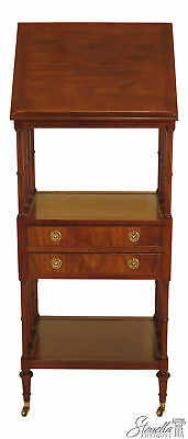 46137EC: BAKER Regency Mahogany 2 Drawer Lectern Book Stand