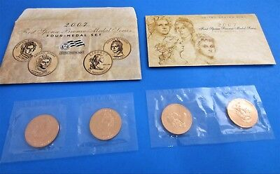 2007 U.S. Mint First Spouse Bronze Medal Series 4 Medal Set
