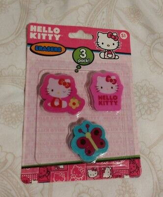 0d2f4ac9c5 Hello Kitty Sanrio Erasers Pack of 3 2013