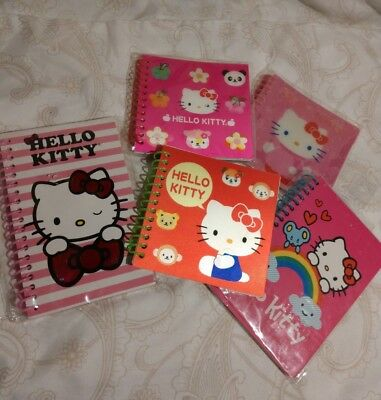 Hello Kitty Sanrio Journals and Spiral Notebooks 2008-2012 Lot of 5