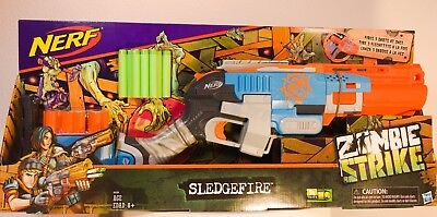 Nerf Zombie Strike Sledgefire Blaster *Discontinued/RARE* Perfect Condition