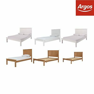 Argos Home Grafton Solid Wood Bed Frame - Choice of Size and Colour