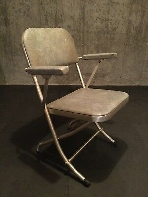Warren Mcarther Chair. Machine Age. Brushed Stainless Steel