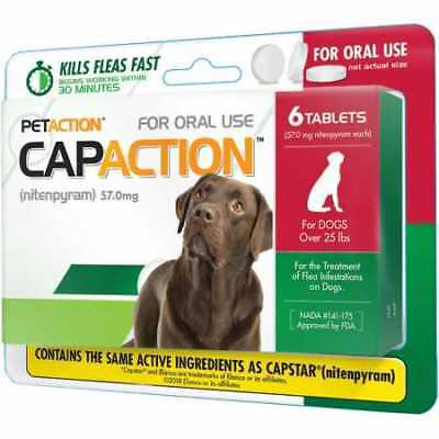 CapAction for Dogs 57mg over 25 lbs  6 Tablets