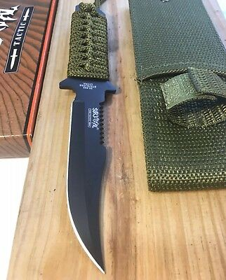 """7.5"""" Tactical Survival Hunting FIxed Full Tang Blade Knife Military Combat"""