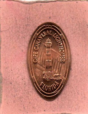 Cape Canaveral Lighthouse Florida Elongated Penney
