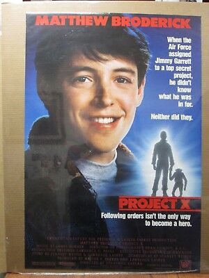 Vintage 1987 Project X original movie poster Mathew Broderick 12830