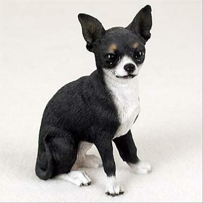 CHIHUAHUA Black White Hand Painted Canine Collectable Figurine Statue