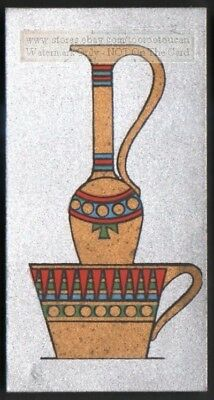 Ancient Egyptian King Ramses III Water  Ewer And Wash Basin 1920s Ad Trade Card