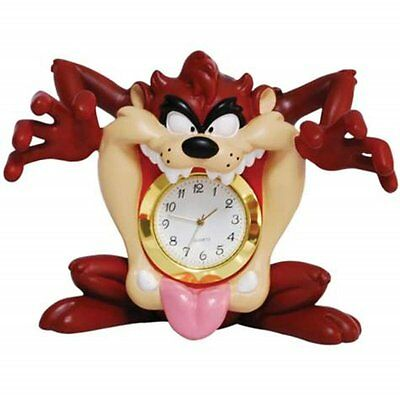 Looney Tunes Taz Mouth Mini Clock Figurine 3-1/4 Inch- Westland Giftware