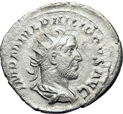 PHILIP I 'the Arab' 247AD Silver  Ancient Roman Coin Eternal Rome  i73269