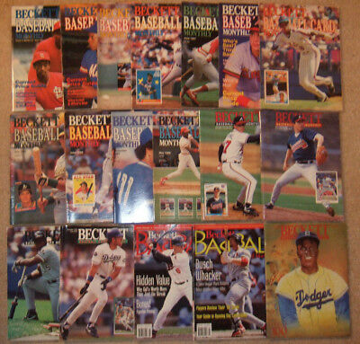 Lot of (31) vintage Beckett BB/BKB/FB Card Monthly Magazines 1985-1998 w/ Jordan