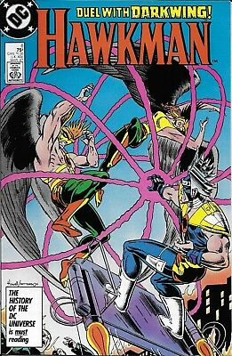 Hawkman Comic Issue 8 Copper Age First Print 1987 Isabella Mishkin Howell Garzon