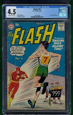 Flash #107 (1959) CGC Graded 4.5 ~ Part 2 Grodd Trilogy ~ Infantino & Giella Art