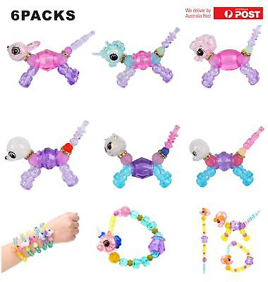6Packs Twisty Petz Unicorn Puppy Toy Magic Twist Pet to Bracelet Xmas Gift AU