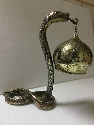 Antique Damascus snake lamp 19TH OTTOMAN Middle east statue (m2096)