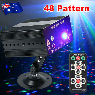 Laser Projector Stage Lights 48 Pattern LED RGB Lighting Party DJ Disco KTV WWB