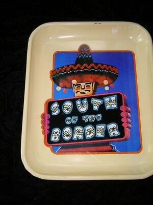 South Of The Border Metal Tray Advertising Character Mexican