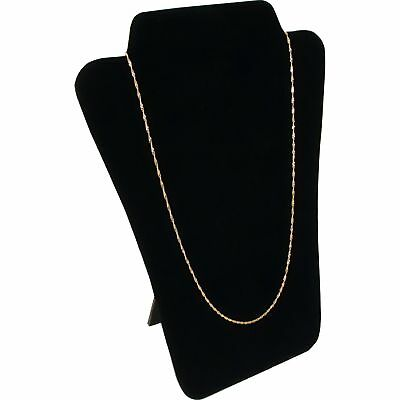 Black Velvet Necklace Display Jewelry Bust Easel 8""