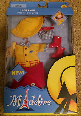 """NEW Rare Madeline 8"""" doll NIB Learning Curve PUDDLE JUMPER Outfit Clothes Set"""