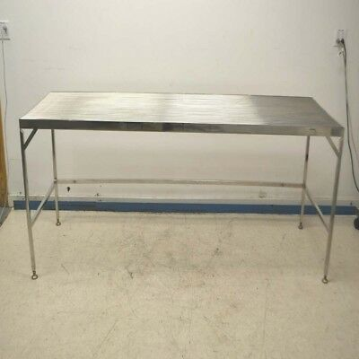 """Electropolished Cleanroom Lab 96"""" x 30"""" x 34.5"""" Stainless Steel Wiretop Table"""
