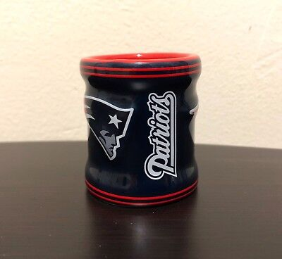 New England Patriots Shot Glass NFL Team 2 oz Sculpted Ceramic Mug