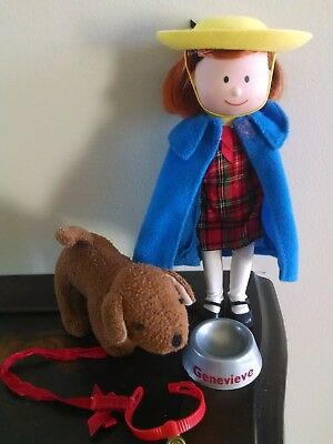 """Rare! Madeline 8"""" Poseable Doll & Madeline's Dog Genevieve Toy Learning Curve"""
