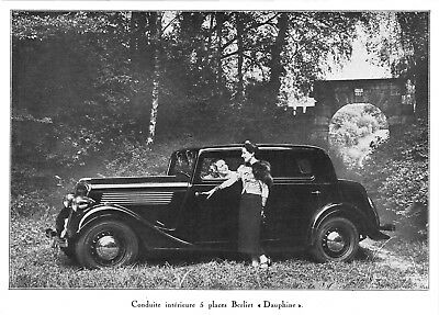 "*** Berliet ""Dauphine"" 5 places *** 1937 - photo (22 x 15,5) // a079"