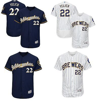 65df909f9 Men's #22 Christian Yelich Flex Base Milwaukee Brewers Player Jersey  Stitched