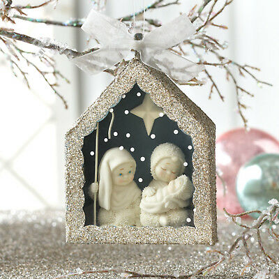 SnowBabies Nativity Shadow Box Ornament NEW/Free Shipping