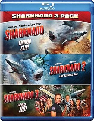 SHARKNADO 3-PACK New 3 Blu-ray First Three Films 1 + The Second One + Oh Hell No