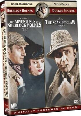 THE ADVENTURES OF SHERLOCK HOLMES + THE SCARLET CLAW New DVD Basil Rathbone